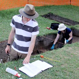 A touch of the past: Archaeology students get their hands dirty before getting degrees