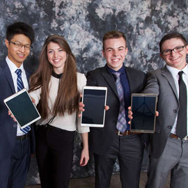 Four winners of the case competition