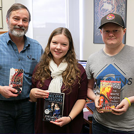 Image of Professor Chris Nighman with students, Emily Dykeman and Scott Milne