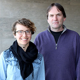 Laurier Professor Simon Dalby and student Aleksandra Szaflarska examine the concept of borders in conservation efforts