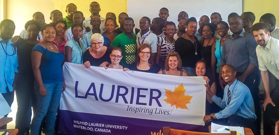 Laurier students visit school in Haiti