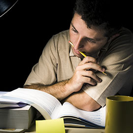 Image of a student studying