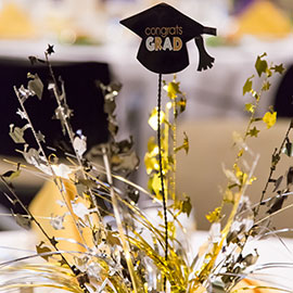 Graduation celebatory table centerpiece
