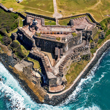 Image of El Morro fort in Old San Juan, Puerto Rico.