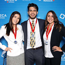 Kendal Rudka, Adam Rezkalla and Liliana Campione