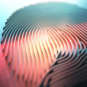 Image of a digital thumbprint
