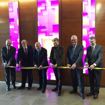 Laurier unveils interactive digital donor recognition wall at Lazaridis School of Business and Economics