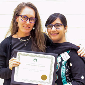 Rebekah Humera with student