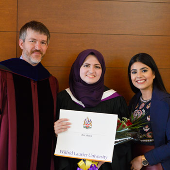 Laurier's first International Students Overcoming War (ISOW)-Jusoor scholar graduates