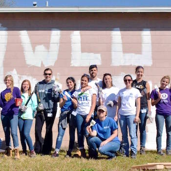 Habitat for Humanity group painting