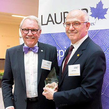 Alumnus and philanthropist Peter C. Ansley recognized with Laurier Philanthropy Award