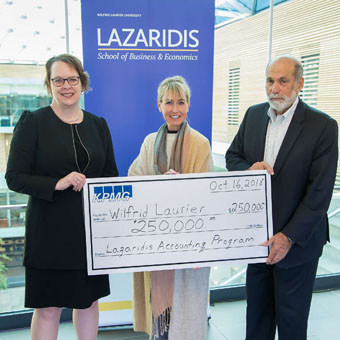 KPMG renews commitment to Lazaridis accounting program at Laurier with a donation of $250,000