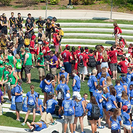 Laurier welcomes first-year students to Golden Hawk community during Waterloo Orientation Week events