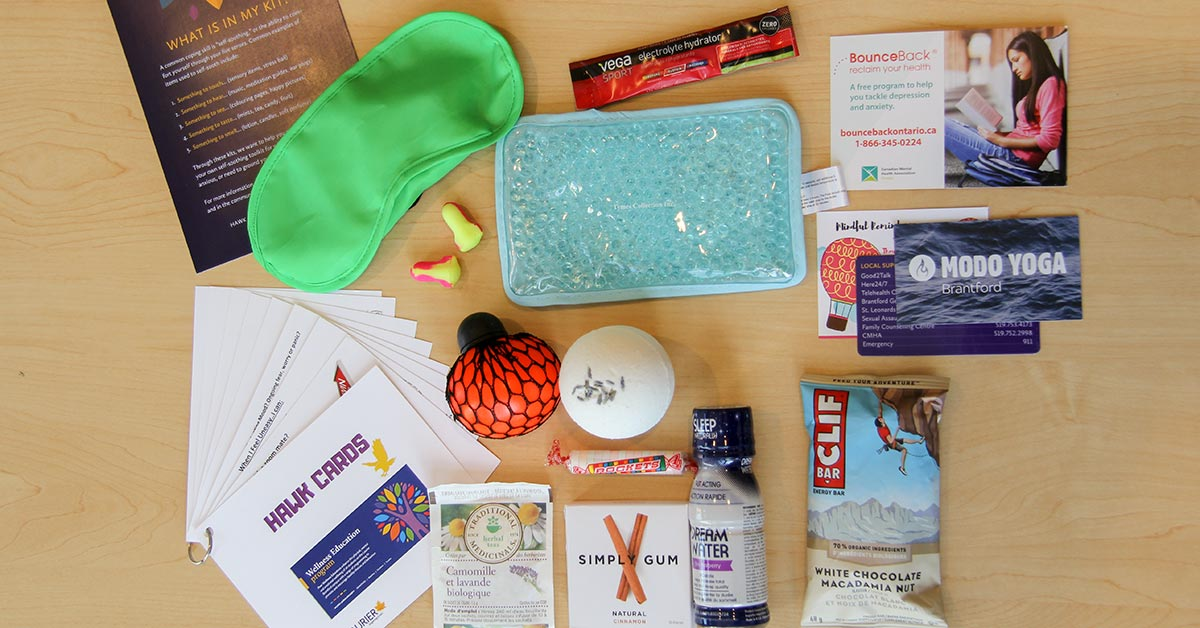 Image of wellness kit contents.