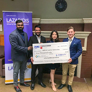 Laurier team wins top prize at national business technology case competition