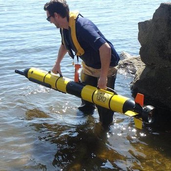 AUV being deployed
