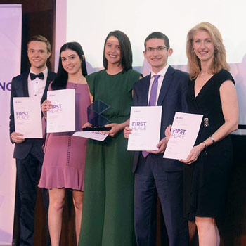 Lazaridis School students win gold at Belgrade International Case Competition