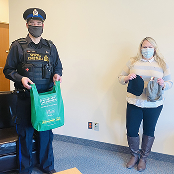 Laurier partners with St. Leonard's, Salvation Army to provide cold weather kits.
