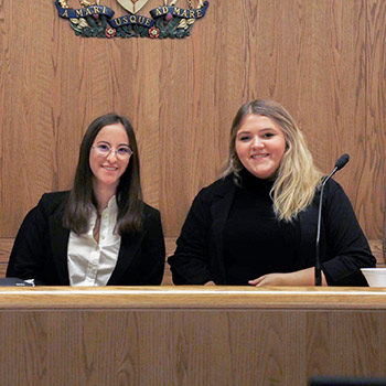 Moot Court Club earns its first-ever competition win.