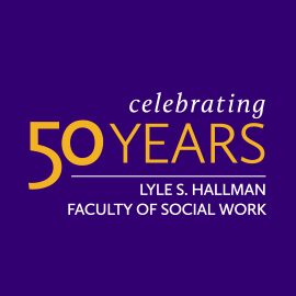 Faculty of Social Work celebrating 50 years logo